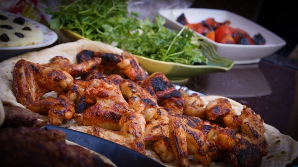 Grilled Chicken Wings on a tray