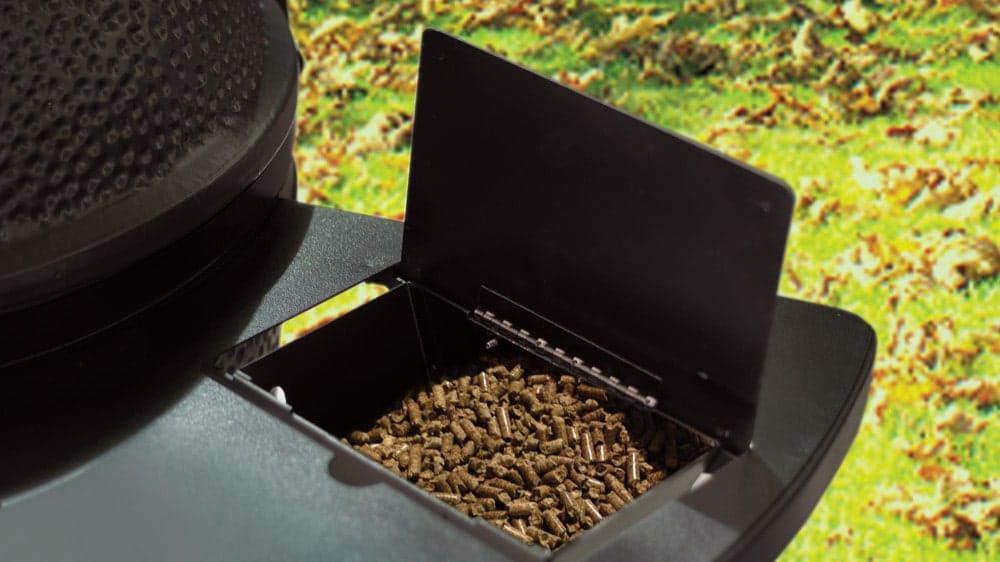 black olive pellet grill hopper
