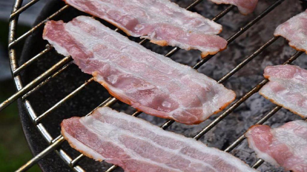 Bacon strips on a pellet grill